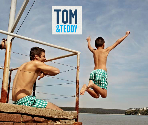 Hello Jack Blog: Tom & Teddy - Matching Swim Trunks