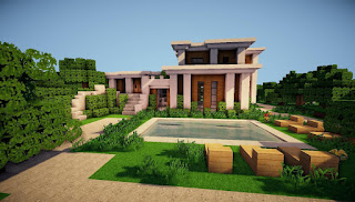 Minecraft-Modern-House-Designs-Simple-with-Pool