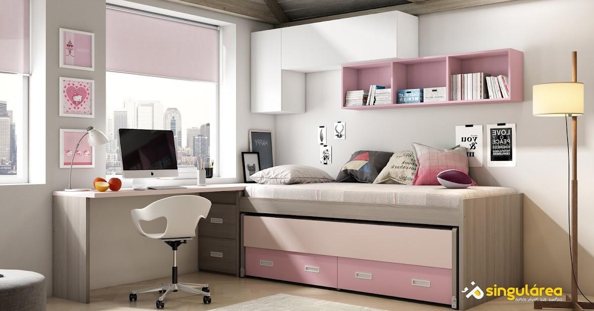 Cuarto juvenil bicama sin armario 1142 - Dormitorios infantiles valencia ...