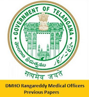 DMHO Rangareddy Medical Officers Previous Papers