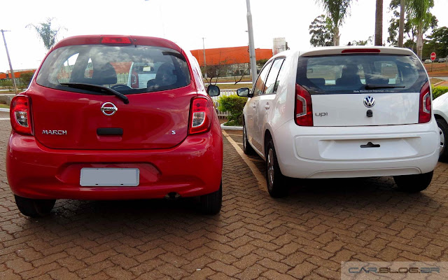 Nissan March 1.0 x Volkswagen up! 1.0 - 2016