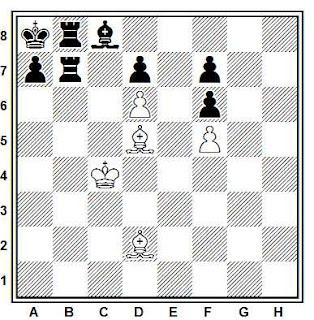 Problema ejercicio de ajedrez número 805: Estudio de Heimo Mainio Lilja (Suomen Shakki, 1949)