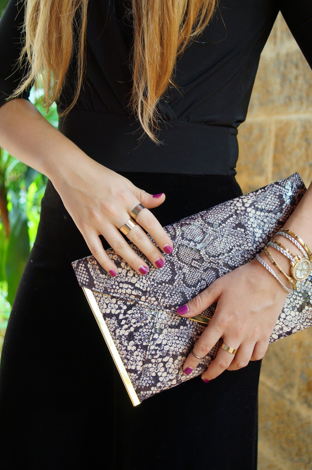 Purple Nails, Asos Clutch