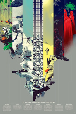 "Star Wars ""The Military Forces of the Galactic Empire"" Regular Edition Screen Print by Kevin Tong x Mondo"