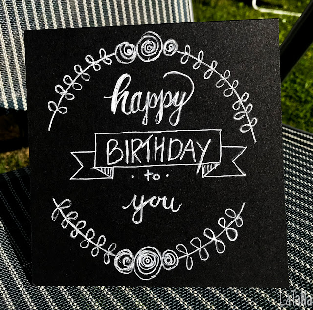 Chalk Card, Hand Lettering, Happy Birthday
