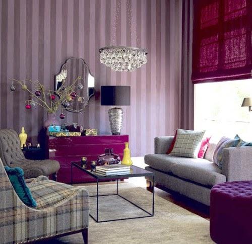 Warna Cat Tembok Untuk Ruang Tamu Ungu Inspirasi Dekor Rumah