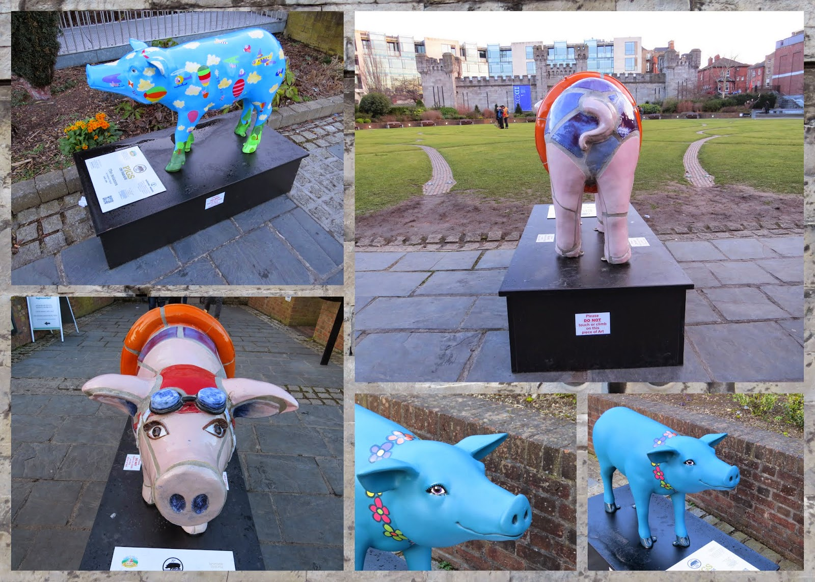 #pigsonparade in Dublin at Dublin Castle
