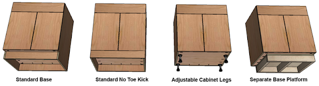 kitchen cabinet toe kick options mass wood working how to build frameless base cabinets 19692