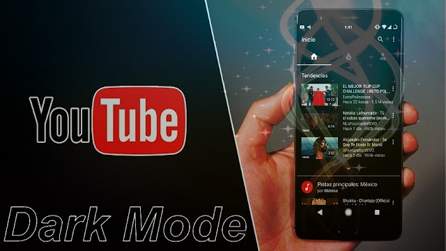 تفعيل الوضع المظام Dark Mode في تطبيق اليوتيب هواتف الأندرويد