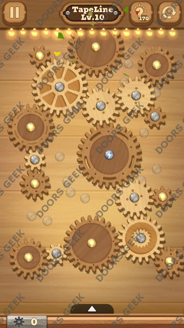 Fix it: Gear Puzzle [TapeLine] Level 10 Solution, Cheats, Walkthrough for Android, iPhone, iPad and iPod