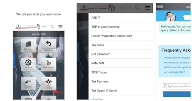 Income tax official mobile apps