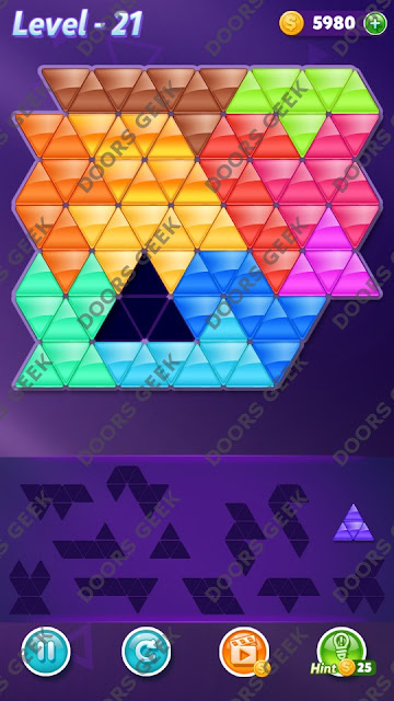 Block! Triangle Puzzle Grandmaster Level 21 Solution, Cheats, Walkthrough for Android, iPhone, iPad and iPod