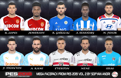 PES 2018 Mega Facepack From PES 2019 Vol. 2 By Sofyan Andri