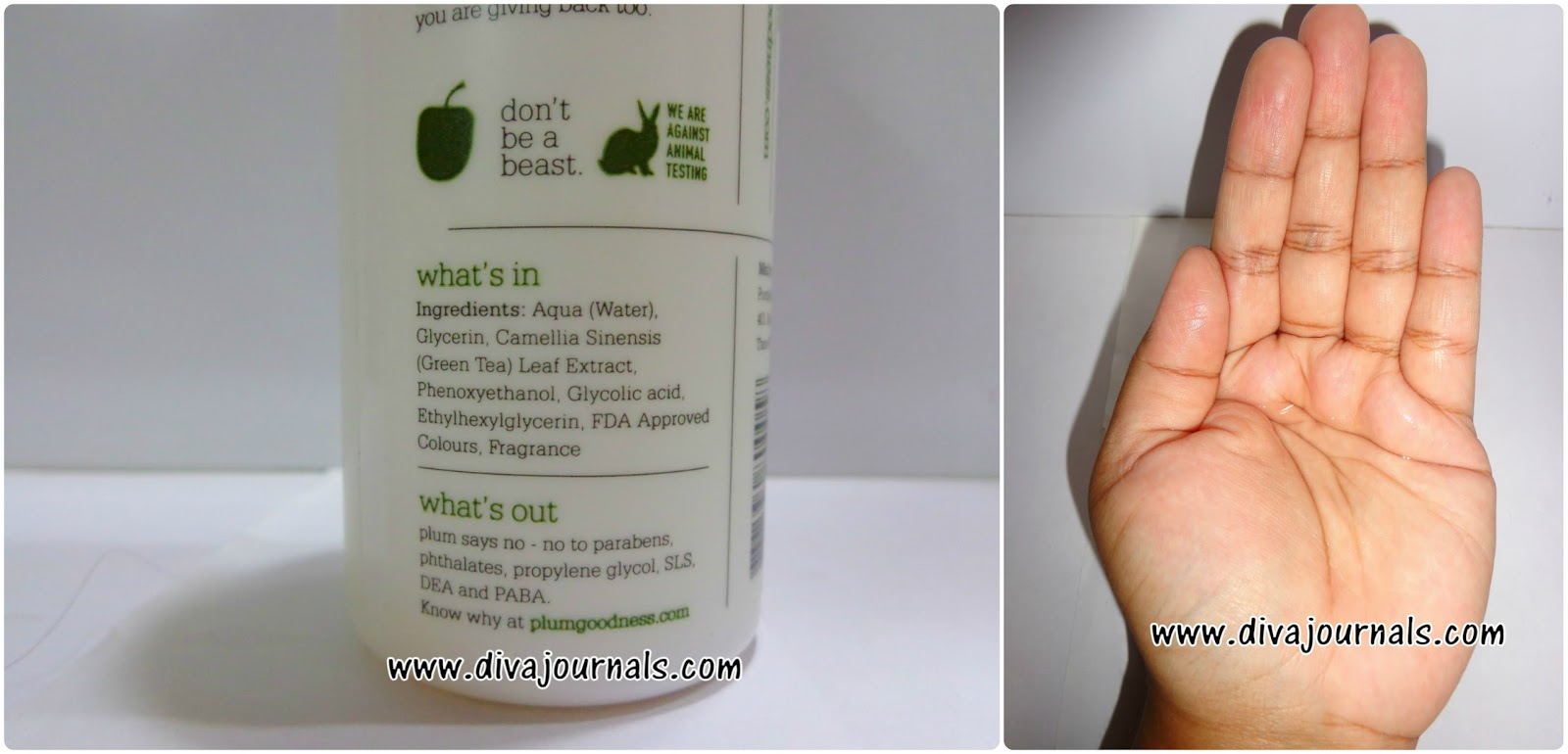 Plum Green Tea Alcohol-free Toner Review