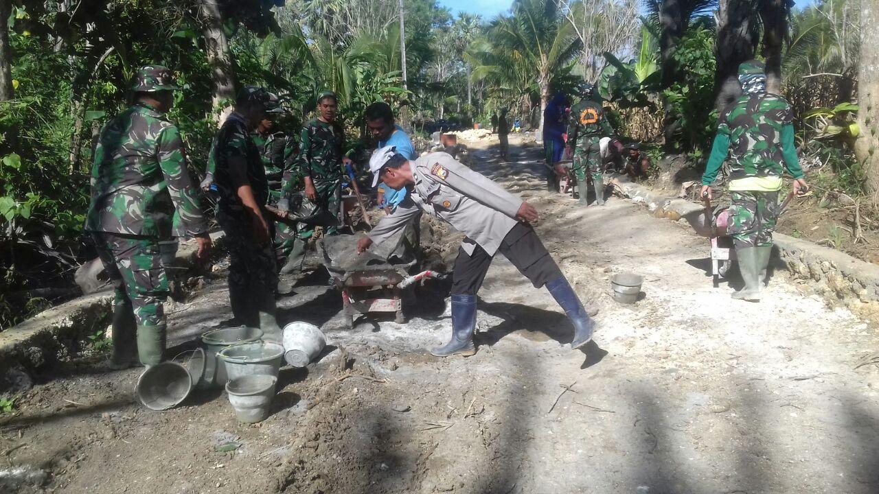 Memasuki Minggu Ketiga Giat TMMD, TNI-POLRI dan Rakyat Semakin Kompak