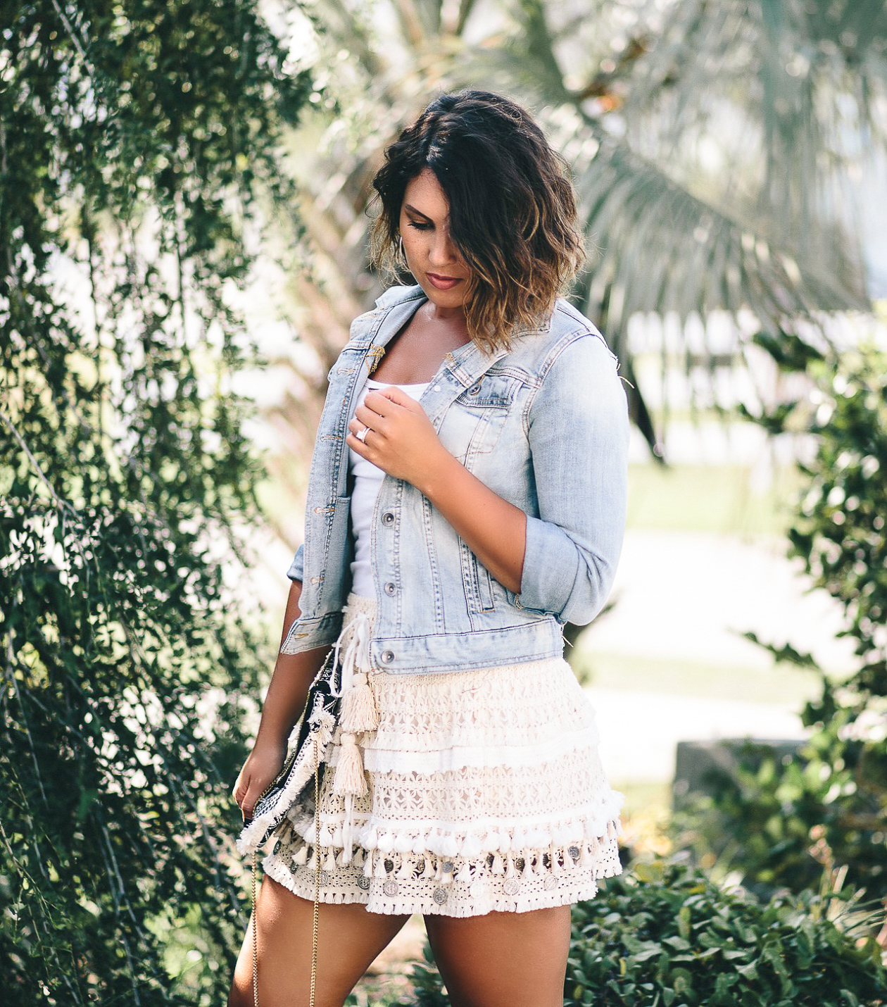 surf gypsy skirt, boho chic, francesca's handbag