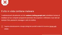 Su Chrome il blocco di siti ingannevoli e download pericolosi