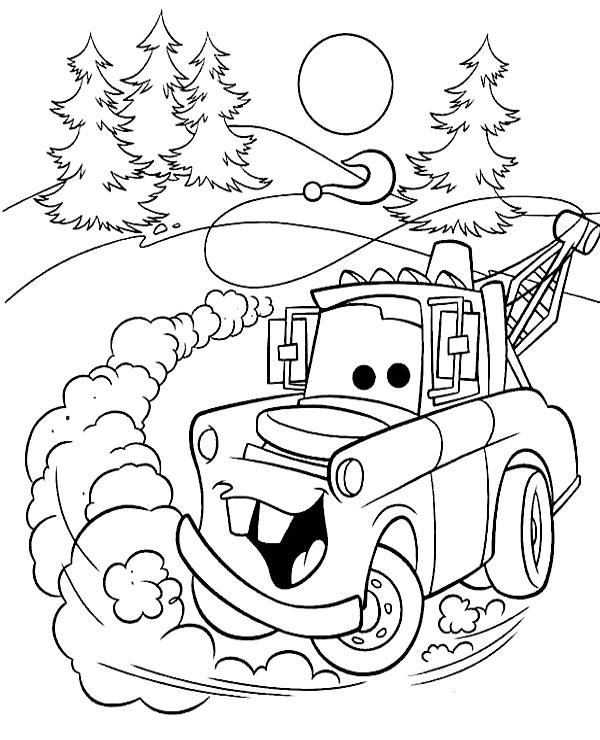Tranh cho bé tô màu vương quốc xe hơi 16