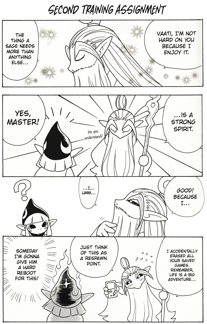 Image result for minish cap manga think of this as a new beginning