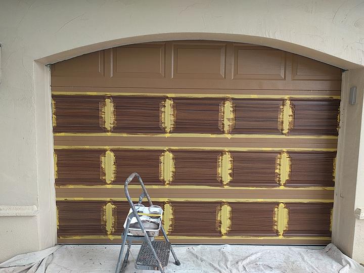 2018 Everything I Create Paint Garage Doors To Look Like Wood