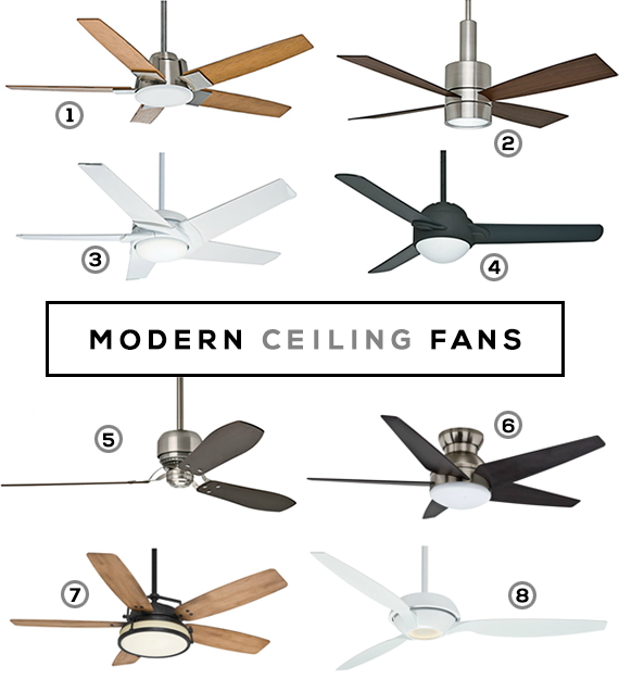 Modern Ceiling Fans // Bubby and Bean