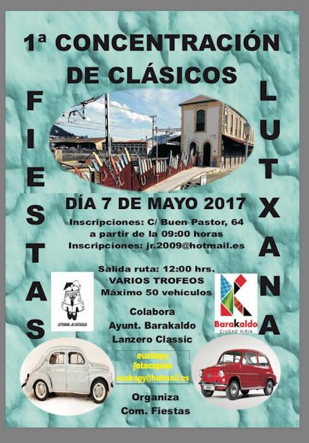 Cartel de la concentración de coches clásicos de Lutxana