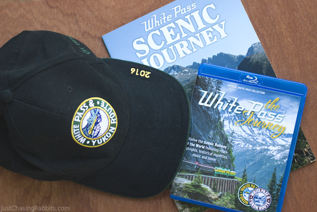 Souvenirs from the White Pass and Yukon Route Railroad in Alaska