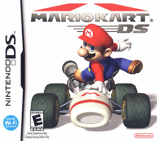 Portada del estuche del cartucho de Mario Kart DS para la Nintendo DS, 2005