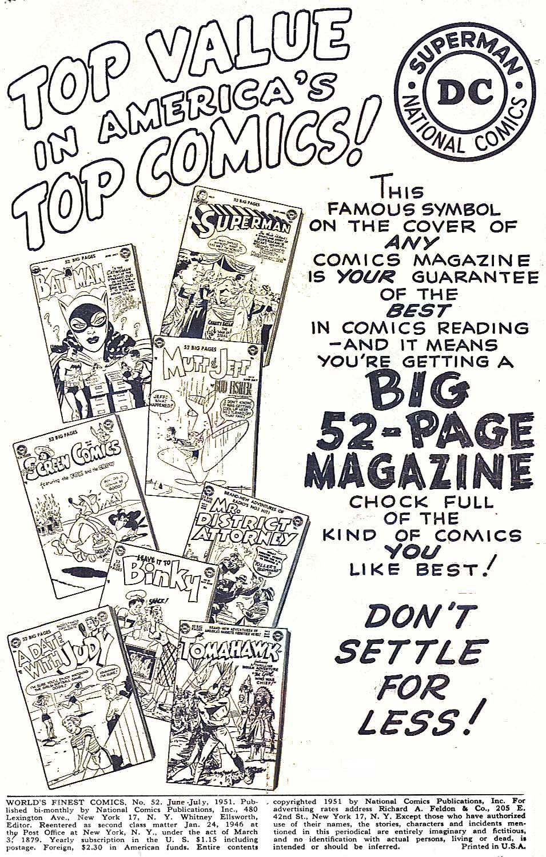 Read online World's Finest Comics comic -  Issue #52 - 2