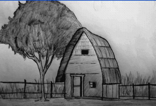 Pencil Sketches & Painting : Pencil sketch of landscape ...
