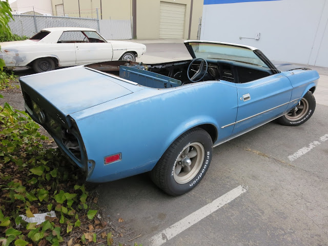 1973 Ford Mustang as it arrived at our shop.