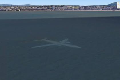 Heboh Penampakan Pesawat Tenggelam di Google Earth, Akibat Kecelakaan?