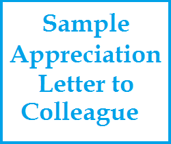 Appreciation messages and letters sample appreciation letter to sample appreciation letter to colleague altavistaventures Choice Image