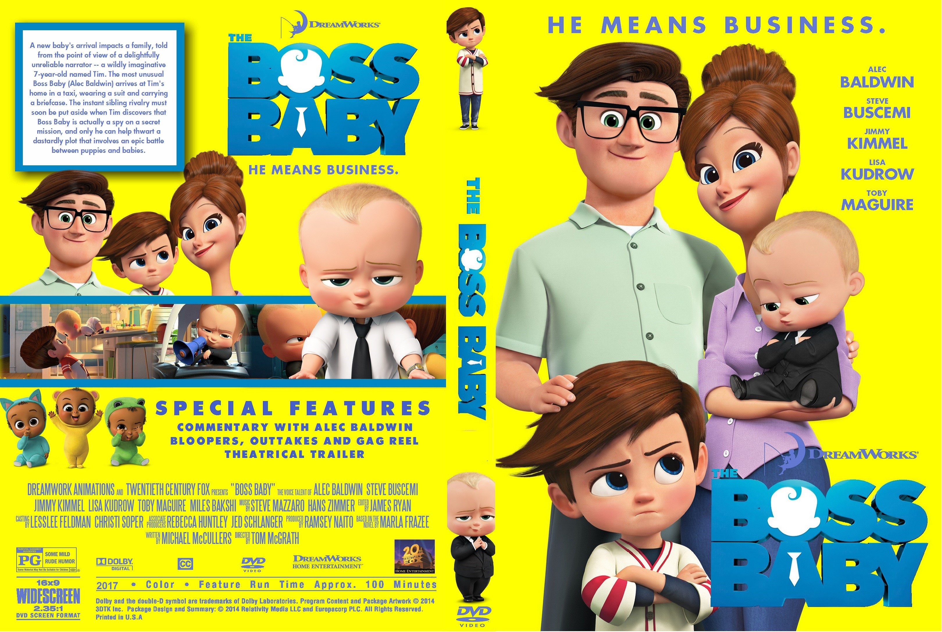 The Boss Baby Dvd Cover Cover Addict Free Dvd Bluray Covers And Movie Posters