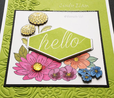 Heart's Delight Cards, Accented Blooms, Springtime Impressions Thinlits, Stampin' Up!,