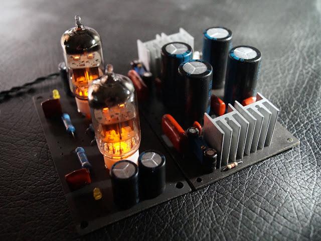 Модули гибридного усилителя для наушников. Лампа 6н1п.