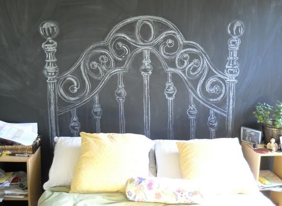 Boiserie c testate da letto fai da te diy splendide idee di riciclo - Parete testata letto dipinta ...
