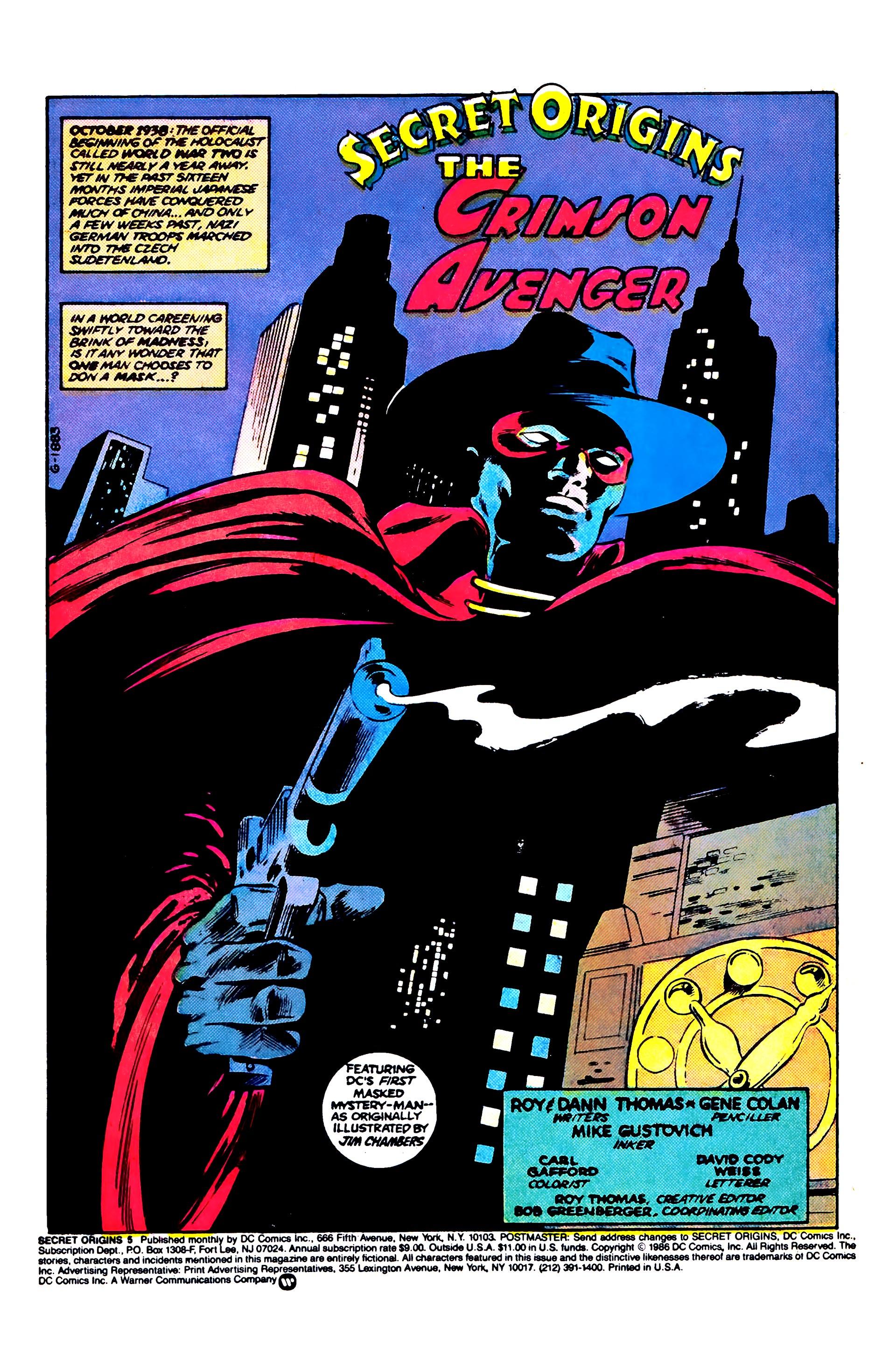 Read online Secret Origins (1986) comic -  Issue #5 - 3