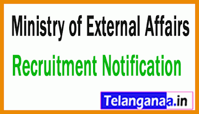 Ministry of External Affairs MEA Recruitment Notification