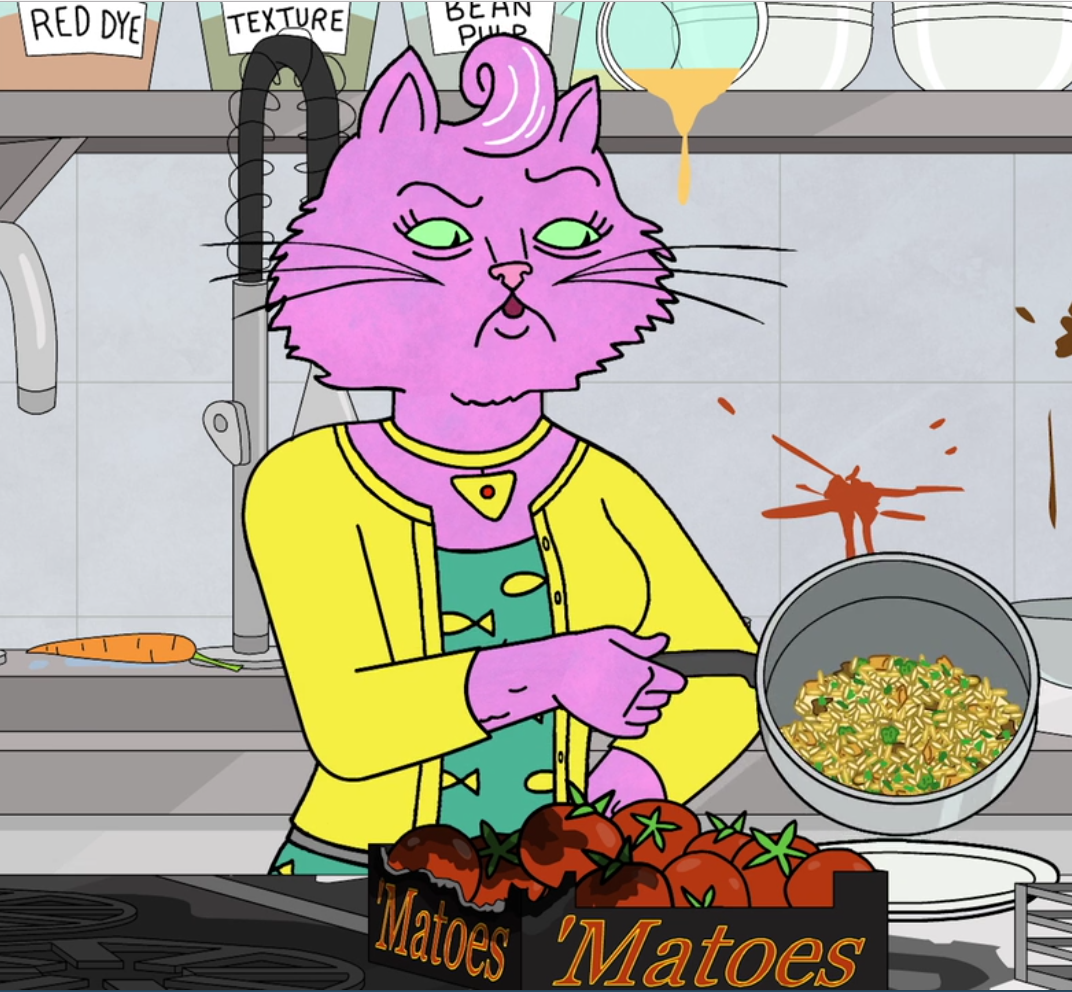 Close-up of Princess Carolyn's mushroom risotto