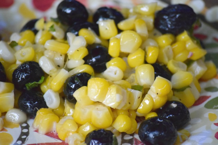 Blueberry Corn Salad: Tastes as good as it looks! | Ms. Toody Goo Shoes