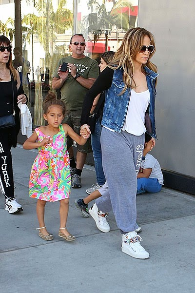 Jennifer Lopez and her daughter Emma