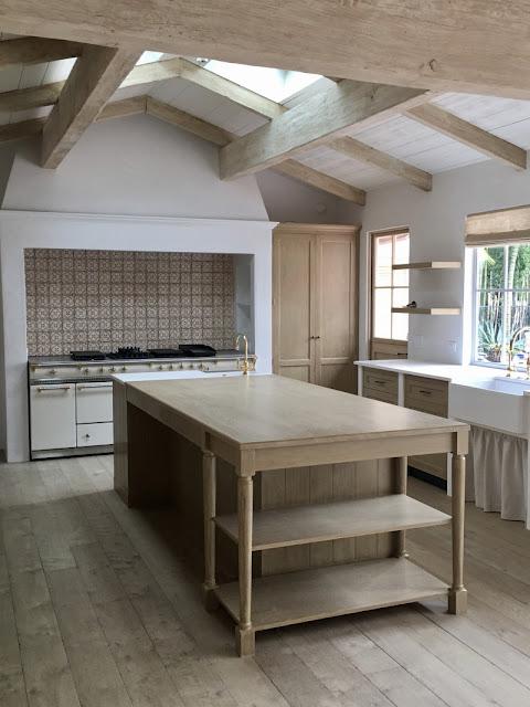 image result for kitchen island Malibu Mediterranean Modern Farmhouse Giannetti Home