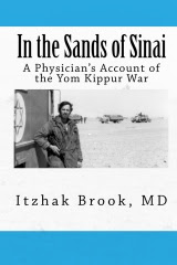 "Dr. Brook's book : ""In the Sands of Sinai, a Physician's Account of the Yom Kippur War"""