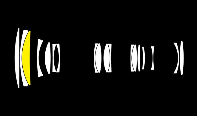 Оптическая схема объектива Nikon AF-P Nikkor 70-300mm f/4.5-5.6 ED VR