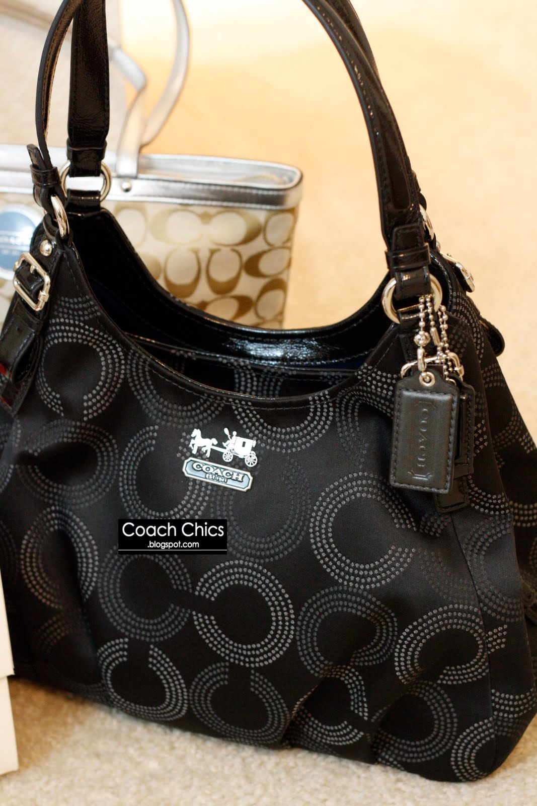 481c05045c8b best price coach canvas op art hobo bag c7a50 13ea6  low price mothers day  special rm780 limited units color silver.black style 16505. coach