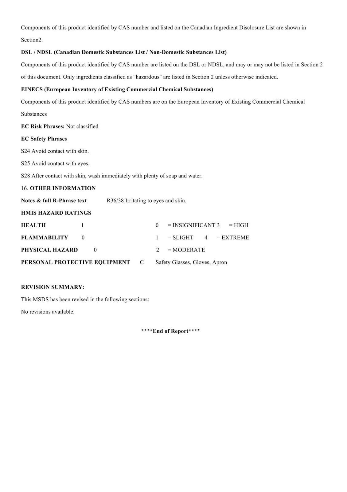 MSDS hoá chất tăng cứng bê tông DG C001 - Trang 5