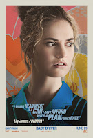 Baby Driver Poster Lily James