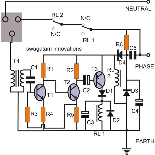 Inverter House Wiring Diagram Baldor 12 Lead Motor Make A Simple Earth Leakage Circuit Breaker (elcb) ~ Electronic Projects
