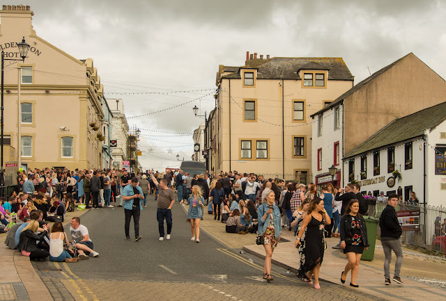 Photo of Shipping Brow in Maryport during the blues festival